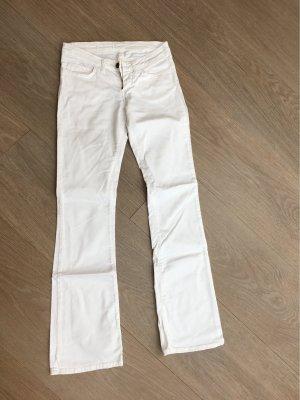 Replay Jeans a zampa d'elefante bianco
