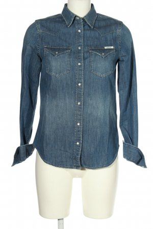 Replay Jeansbluse blau Casual-Look