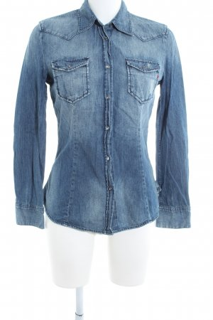 Replay Denim Shirt blue casual look