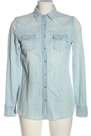 Replay Jeansowa koszula niebieski W stylu casual