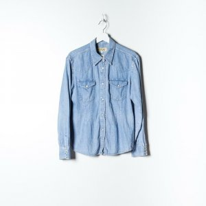 Replay Long Sleeve Blouse blue cotton