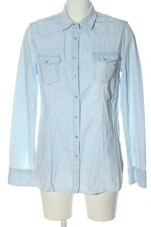 Replay Camicia denim blu stile casual