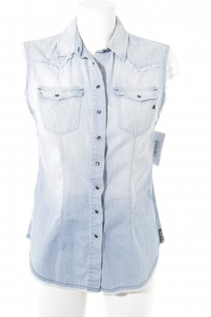 Replay Denim Shirt azure cotton
