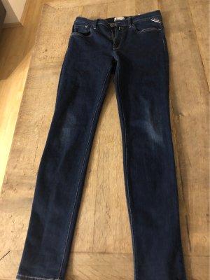 Replay Jeans a sigaretta blu scuro Cotone