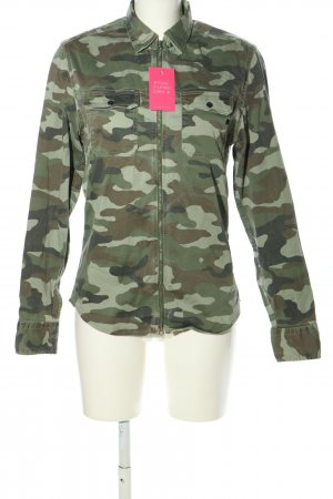 Replay Jeansjacke Camouflagemuster Casual-Look