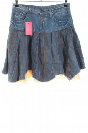 Replay Denim Skirt blue-light orange vintage look
