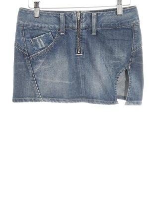 Replay Jeansrock blau schlichter Stil