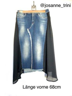Replay Jupe en jeans bleuet-noir coton