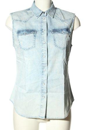 Replay Gilet en jean bleu style décontracté