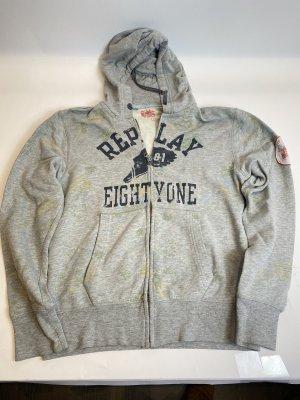 Replay Maglione con cappuccio grigio chiaro
