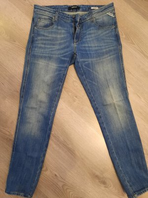 Replay Jeans carotte bleu acier