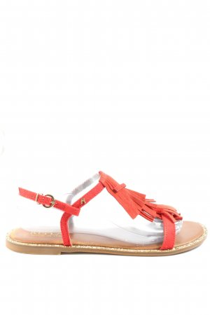Replay Sandalias cómodas rojo look casual