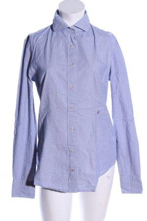 Replay Langarm-Bluse blau Business-Look