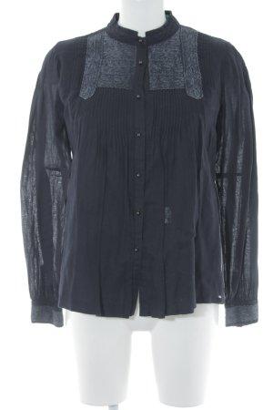Replay Langarm-Bluse dunkelblau Casual-Look