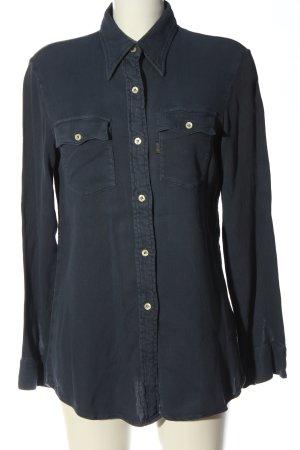 Replay Camisa de manga larga azul look casual