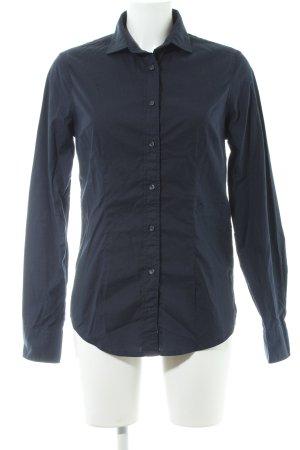 Replay Langarmhemd dunkelblau schlichter Stil