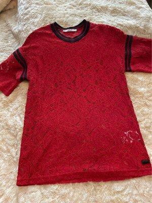 Replay T-Shirt black-brick red