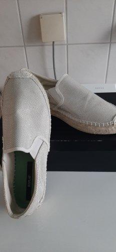 Replay Espadrille sandalen wit-zilver