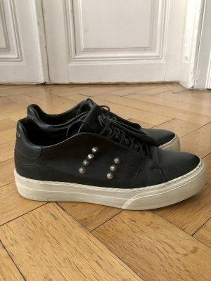 Replay Leder Sneakers - Schwarz