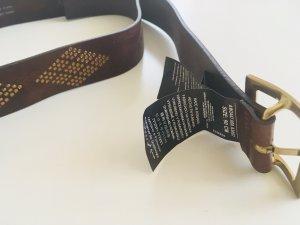 Replay Cinturón de cuero marrón