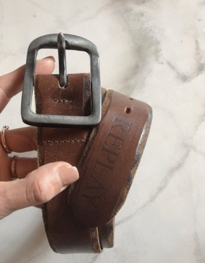 Replay Cintura di pelle marrone-cognac Pelle