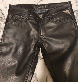 Replay Pantalone in pelle nero