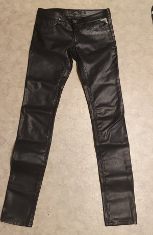 Replay Leather Trousers black