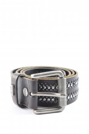 Replay Leather Belt black casual look