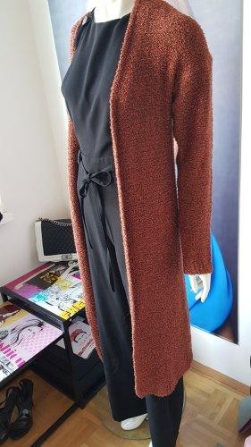 Replay Gilet long tricoté bronze
