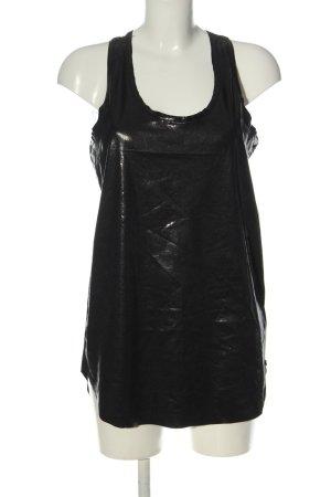 Replay Długi top czarny W stylu casual