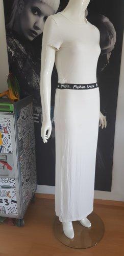 REPLAY maxikleid stretch Black white Statement Fashionata small