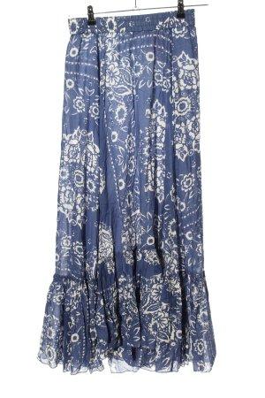 Replay Jupe longue bleu-blanc imprimé allover style décontracté