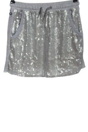 Replay Mini-jupe gris clair-argenté style décontracté
