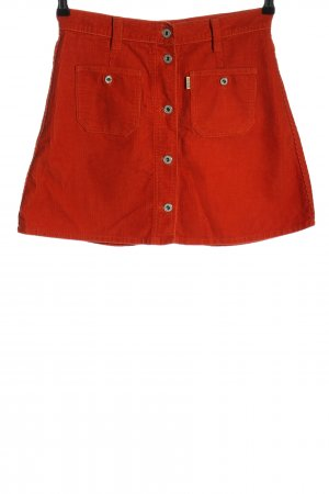 Replay Minirock rot Streifenmuster Casual-Look