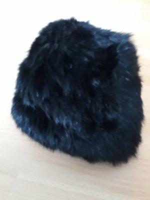 Replay Cappello in pelliccia nero