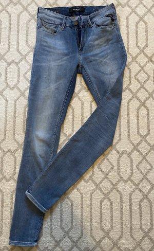 Replay Drainpipe Trousers azure