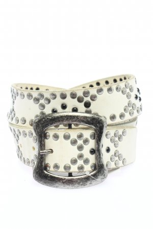 Replay Studded Belt white casual look