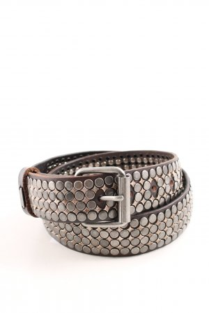 Replay Studded Belt bronze-colored extravagant style