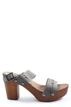 Replay Platform Sandals black-brown casual look