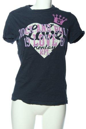 Replay Print-Shirt Motivdruck Casual-Look