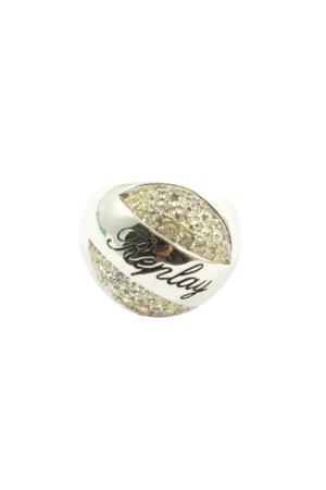 Replay Pierścionek z ozdobnym kamieniem srebrny Elegancki