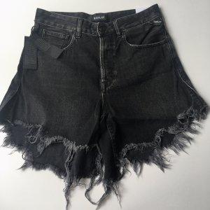Replay ripped Jeans Shorts WA408 schwarz