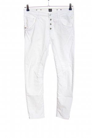 Replay Drainpipe Trousers white casual look