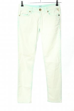 Replay Tube Jeans turquoise color gradient casual look