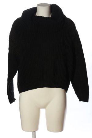 Replay Jersey de cuello alto negro look casual