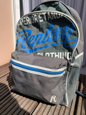 Replay Schoolrugzak grijs-blauw