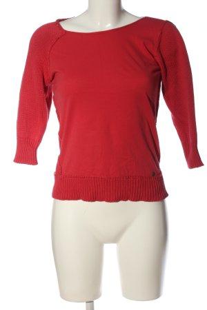 Replay Jersey de cuello redondo rojo look casual