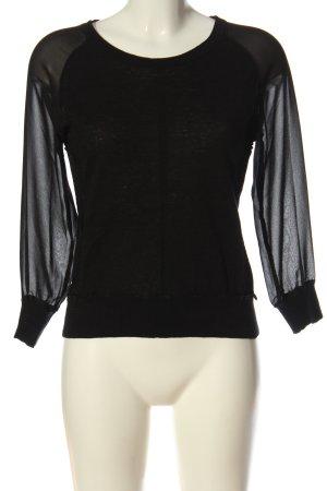 Replay Jersey de cuello redondo negro elegante