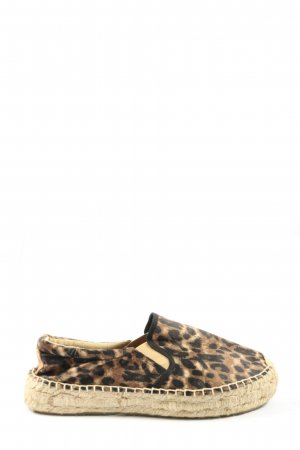 Replay Espadrille sandalen bruin-zwart volledige print elegant