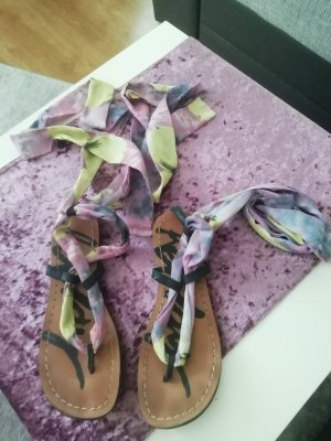 Replay Roman Sandals yellow-lilac